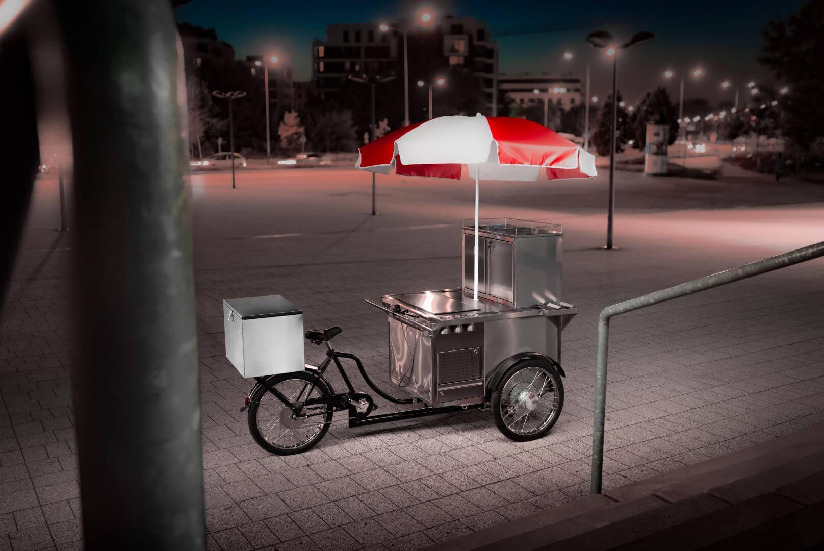 food bike hot dog